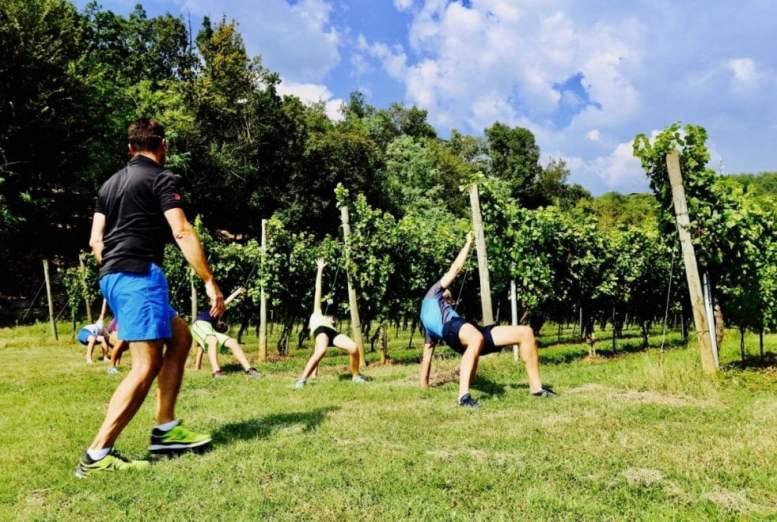 ginnastica tra le vigne