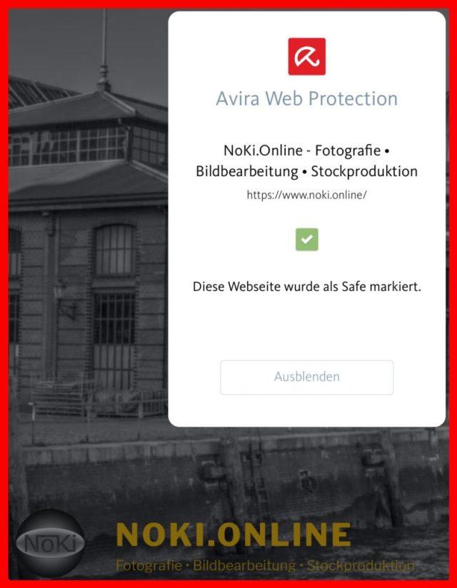 NoKi.Online als sicher markiert