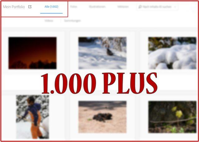 Seit heute - dem 20. November 2019 - sind bereits über 1000 Stockmedien von mir bei Adobe-Stock online und können für Jedermann in kreativer Art und Weise ihre Anwendung finden.