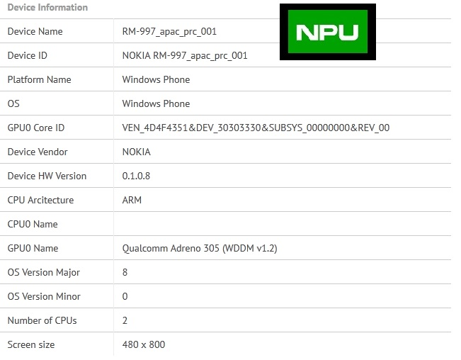 A new dual-core #Lumia ( RM-997 ) appears on GFXBench. A