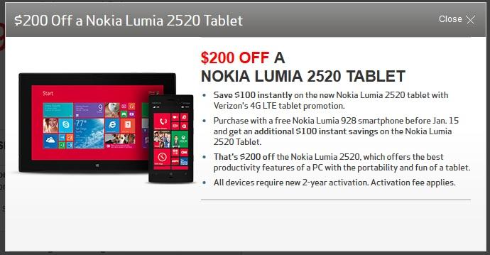 Verizon Lumia 2520