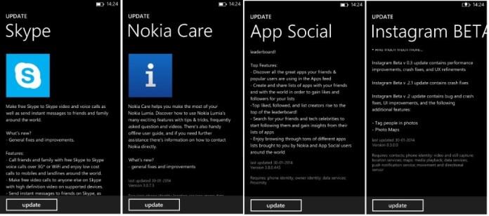 Apps update 4