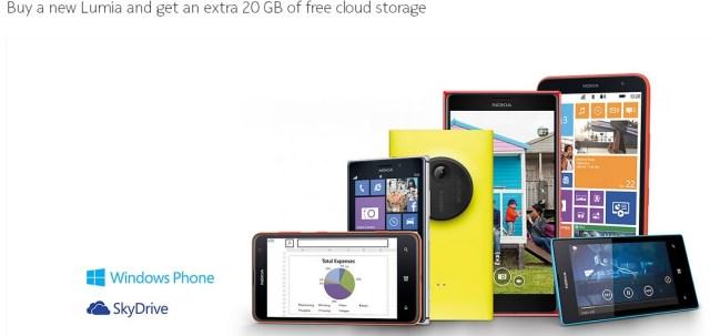 SkyDrive Lumia