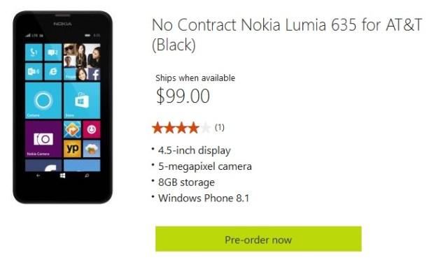 AT&T Lumia 635