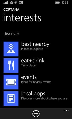 Cortana discover