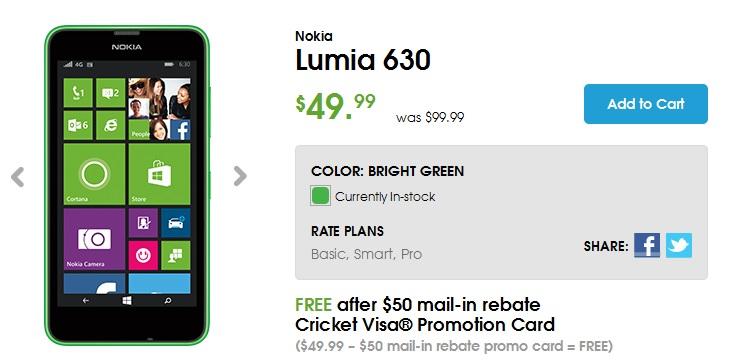 Lumia 630 cricket