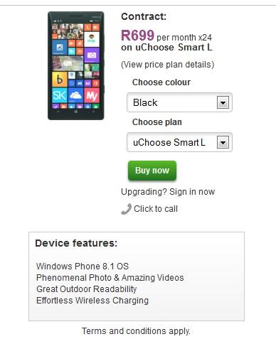 Lumia 930 Vodacom