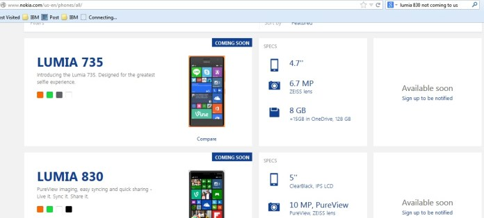 Lumia 735 & Lumia 830