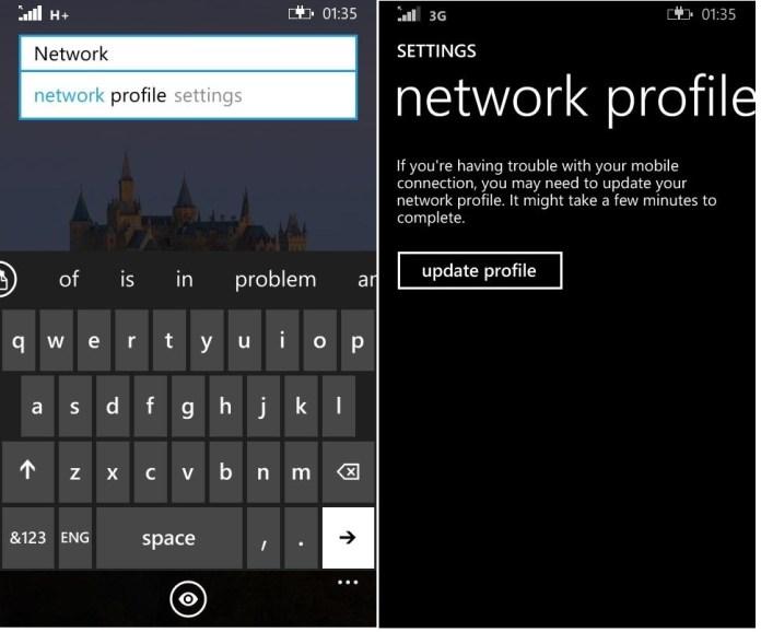 Network profile