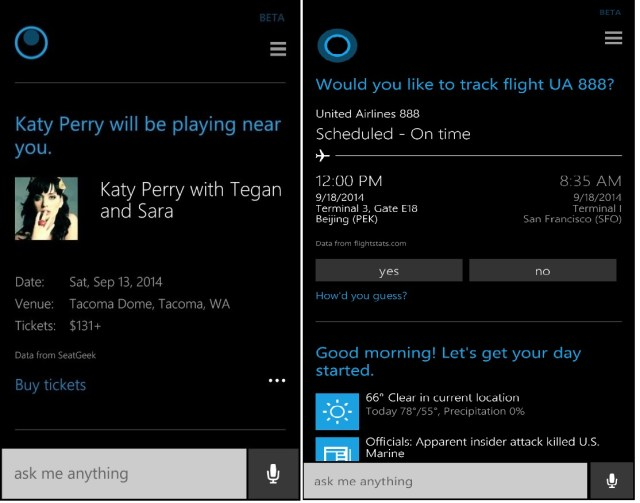 Cortana update