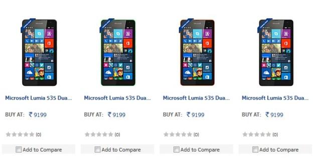 Lumia 535 India