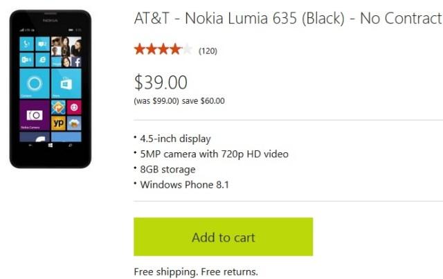 Lumia 635 US deal