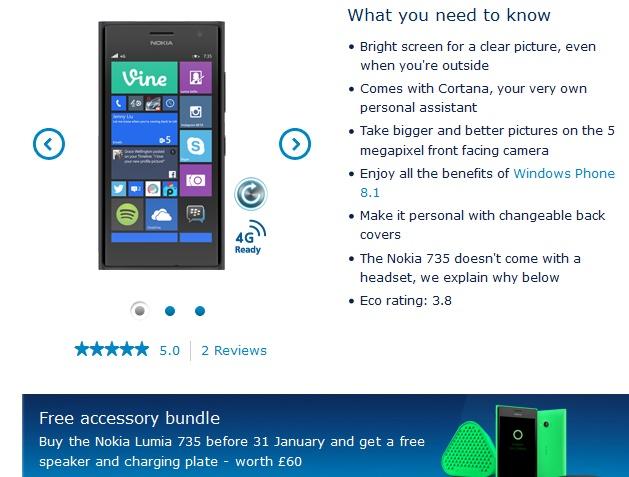Lumia 735 O2