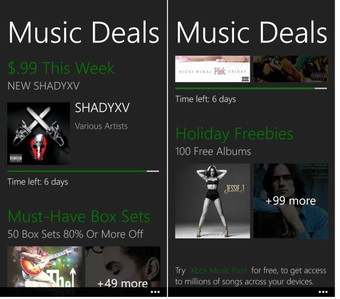 Music Deals offer