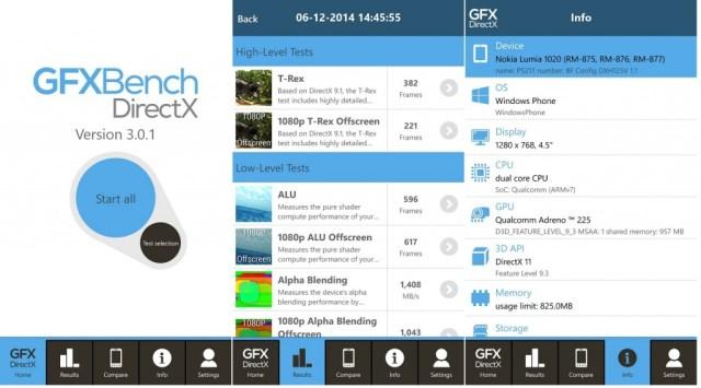 GFXBench windows phone