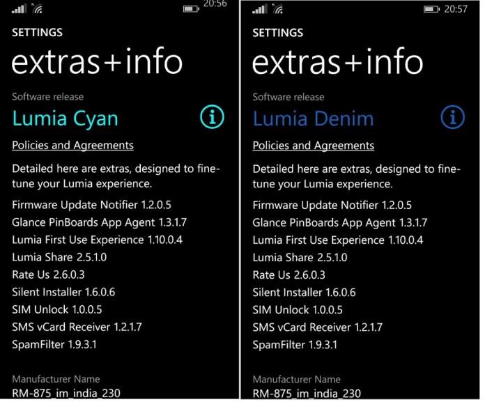 Lumia Cyan vs Denim