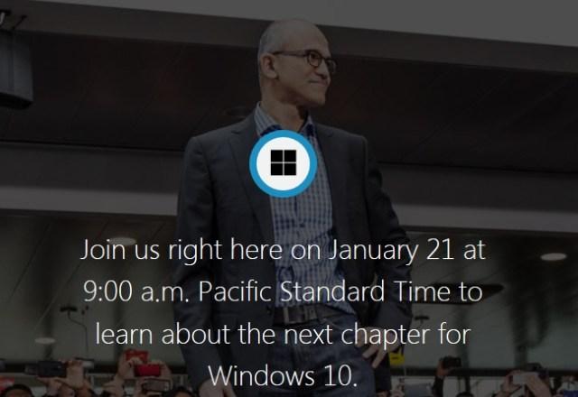 Windows 10 webcast