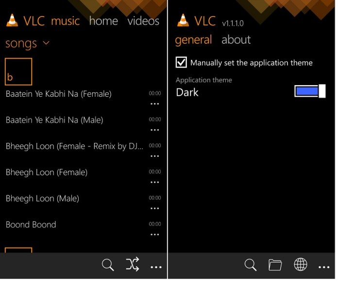 VLC 1.1.1.0