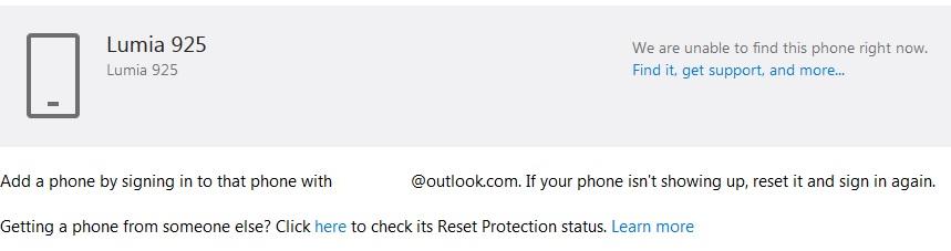 forgot password microsoft account nokia lumia