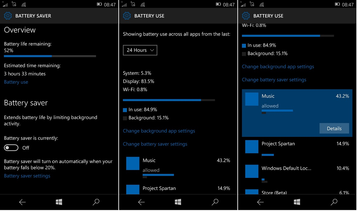 Windows 10 Mobile (Lumia) Battery Life tips, prolong & improve