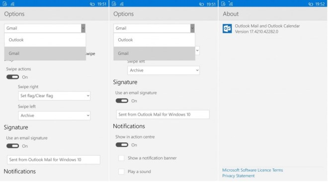 Outloo mail settings 2
