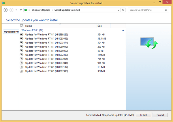 install windows 8.1 rt update 3