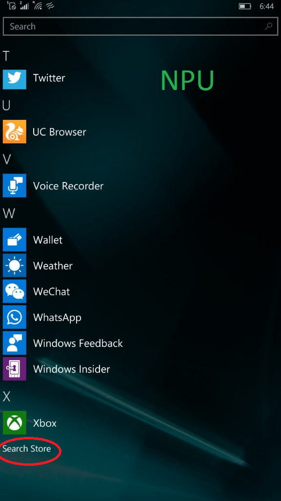 Leaked Windows 10 Mobile Build 10586 screenshot reveals app