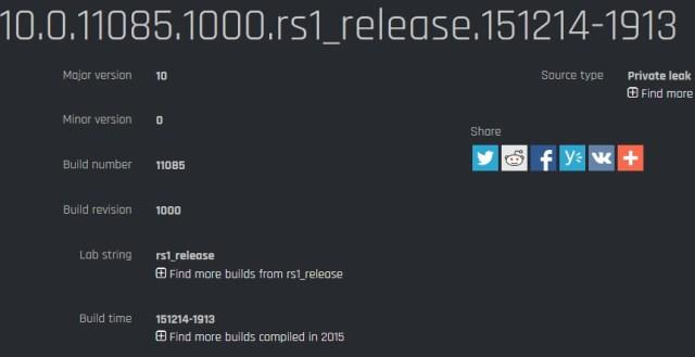 Build 11085