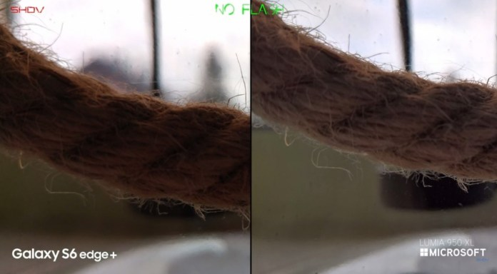 Edge + vs Lumia 950 XL macro