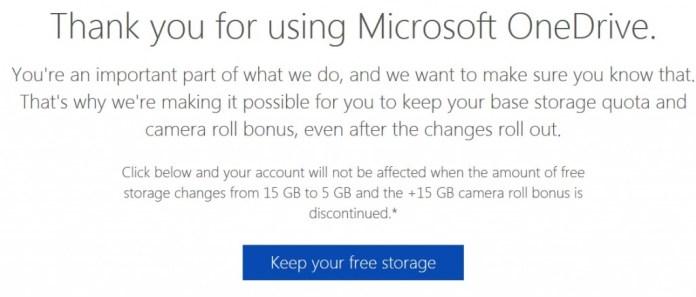 OneDrive storage free