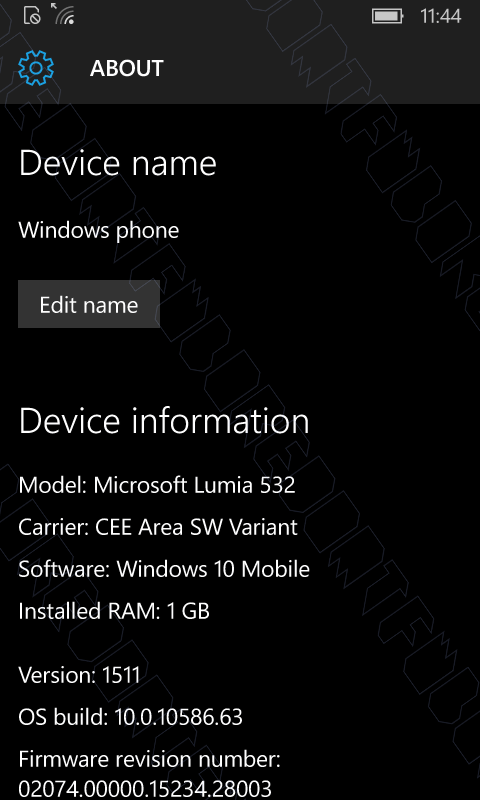 Windows 10 Mobile 10586.63