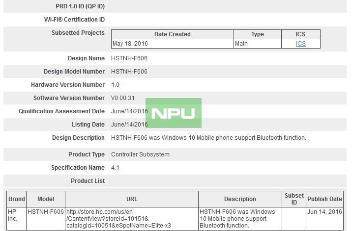 HP Elite X Bluetooth