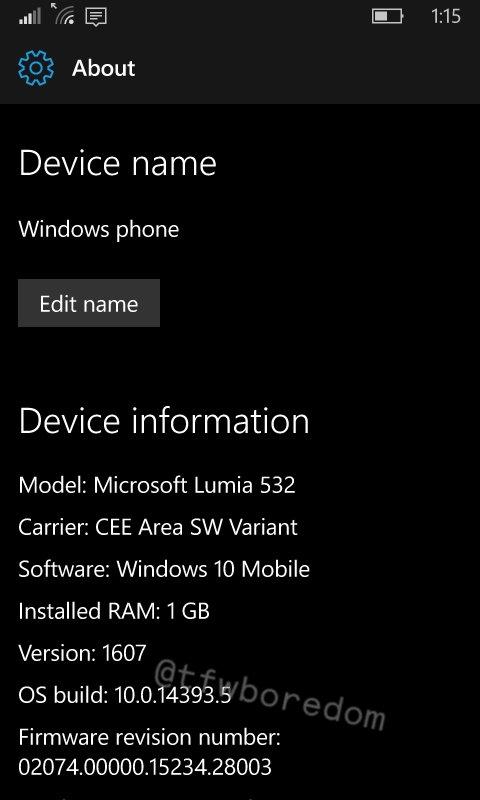Build 14393.5