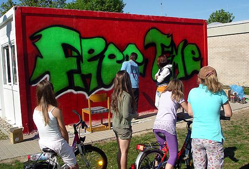 500 Jugendtreff Waldstadt wird bunt