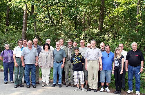 Gemeinderat auf Waldbegehung