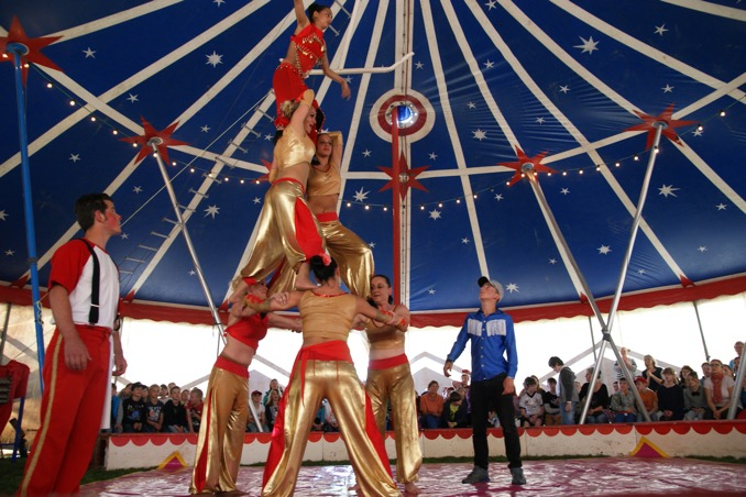 Zirkus Menschenpyramide