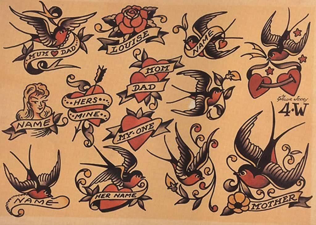 La Simbología De Los Tatuajes Tradicionales 12 No Land Tattoo
