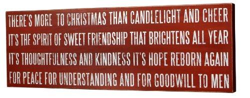 More To Christmas Box Sign