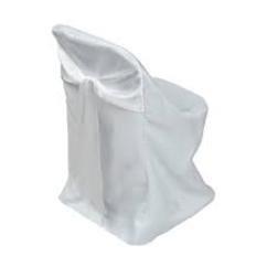 Chair Covers For Folding Chairs Rent Lounge Pool Polyester Cover With Attached White Satin Sash Fits Available In There Is An Additional Fee The Installation Of And Sashes Please Call Or Stop By Office A