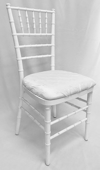 white cushion chair ergonomic headrest chairs rental nolan s tent and party rochester ny chiavari w antionette