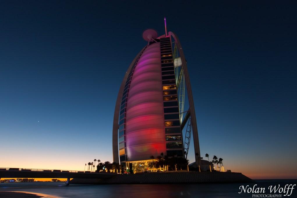 Burj Al Arab Jumeirah at sunset (454F34622)