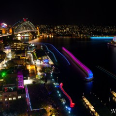 Sydney Opera House and Harbour Bridge - Vivid Sydney 2014 (454F35553)