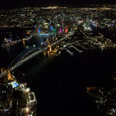Aerial view of Vivid Sydney 2016 (AA4675)