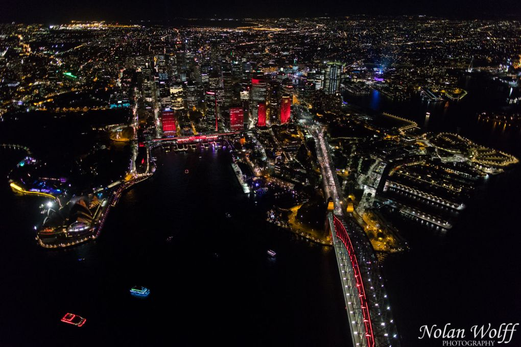 Aerial view of Vivid Sydney 2016 (AA5308)