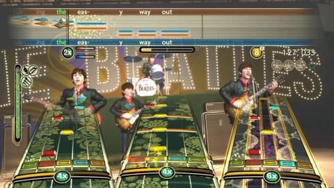 the beatles rockband gameplay