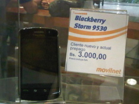 blackberry storm 9530 en movilnet