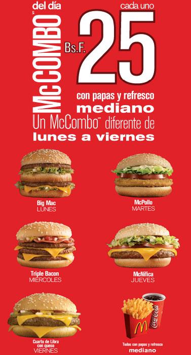 Promoción McDonalds McCombo del día