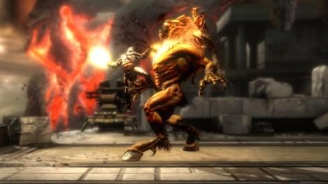 bestia apuñaleada por kratos