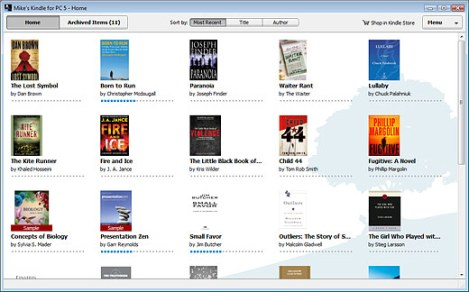 Amazon Kindle for PC - screenshot