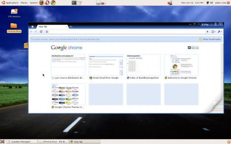 google chrome os screenshot - no official